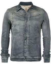 Rick Owens Drkshdw Faded Denim Jacket