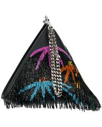 Les Petits Joueurs - Sequinned Pyramid Clutch - Lyst