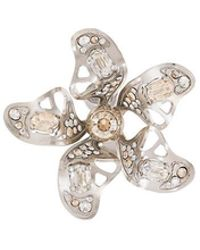 Lanvin - Crystal-embellished Flower Earring - Lyst