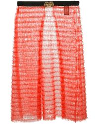 Tu Es Mon Tresor - Sheer Layered Apron Skirt - Lyst