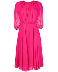 Max Mara Studio - Belted Flared Dress - Lyst