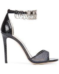 Monique Lhuillier - Crystal Embellished Sandals - Lyst