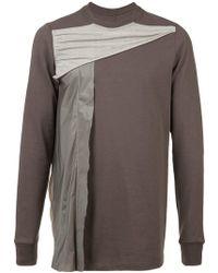 Rick Owens - Drapiertes Sweatshirt - Lyst