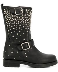 Albano - Pearl Embellished Boots - Lyst