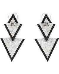 Elise Dray - Drop Triangle Diamond Earrings - Lyst
