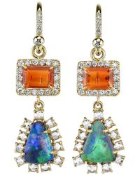 Irene Neuwirth | Diamond Tear Drop Earrings | Lyst