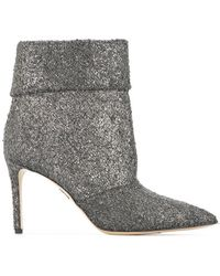 Paul Andrew - Pointed Toe Glitter Boots - Lyst