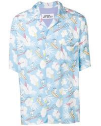 7ab7177e1 Lyst - Jem Men's Snoopy Graphic-print Short-sleeve Shirt in Gray for Men