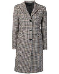 Tagliatore - Checked Single-breasted Coat - Lyst