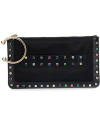 RED Valentino - Crystal Embellished Clutch Bag - Lyst