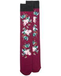 Undercover - Floral Print Socks - Lyst