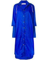 Marni - Long Extended Cuff Raincoat - Lyst