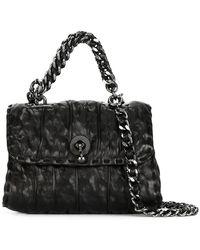 Ermanno Scervino - Crinkle-Effect Leather Satchel Bag - Lyst