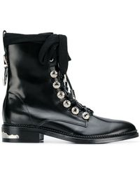Toga - Studded Lace-up Boots - Lyst