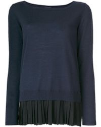 P.A.R.O.S.H. - Pleated Detail Knitted Top - Lyst