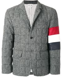 Thom Browne - Downfilled Sport Coat With Red - Lyst
