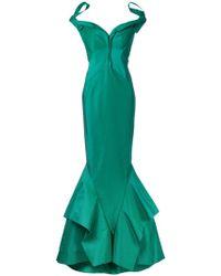 Zac Posen - Bardot Fishtail Gown - Lyst
