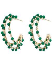 Rosantica - Angola Bead Triple Hoop Earrings - Lyst
