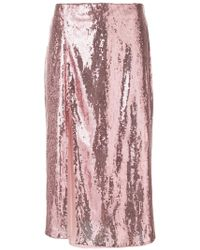 Christian Pellizzari - Sequined Over-the-knee Skirt - Lyst