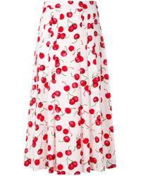 Essentiel Antwerp - Cherry Print Midi-skirt - Lyst