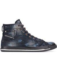 DIESEL High-Top-Sneakers im Used-Look