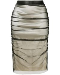 Tom Ford - Layered Pencil Skirt - Lyst