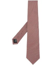 Gieves & Hawkes - Embroidered Circles Tie - Lyst