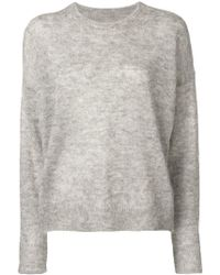 1cd1eda13b Étoile Isabel Marant Black And White Mohair Russel Sweater in Black ...