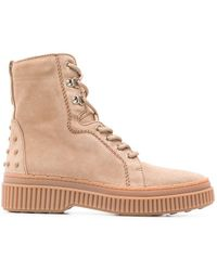 Tod's - Military Boots - Lyst