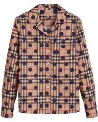 Burberry - Polka-dot Check Pyjama-style Shirt - Lyst