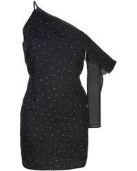 027c10dd1 Michelle Mason - Vestido corto con manga asimétrica - Lyst