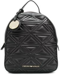 Emporio Armani - Quilted Effect Backpack - Lyst