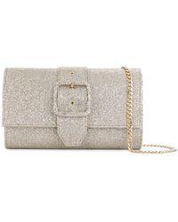 Casadei - Buckled Glitter Shoulder Bag - Lyst