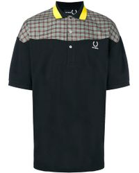Fred Perry - Colourblock Plaid Polo Shirt - Lyst