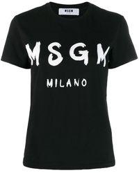 MSGM - Camiseta con logo - Lyst