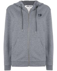 McQ - Swallow Patch Front Zipped Hoodie - Lyst