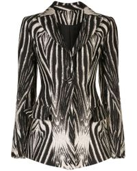 Christian Siriano - Blazer mit Zebra-Print - Lyst
