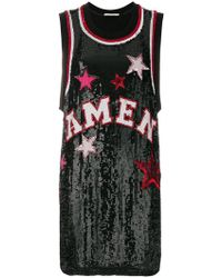 Amen - Logo And Star Sequinned Tank Top - Lyst