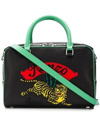 90f88da6820 KENZO - Tiger Embroidered Bowling Bag - Lyst