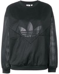 adidas - Panelled Logo Print Sweatshirt - Lyst
