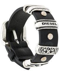 DIESEL - Silver-toned Hardware Bracelet - Lyst