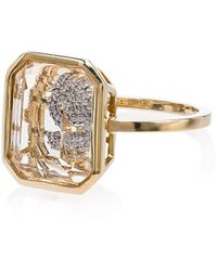 Mateo - Frame Secret Diamond Initial Ring - Lyst