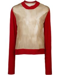 Uma Wang - Sheer Knit Jumper - Lyst