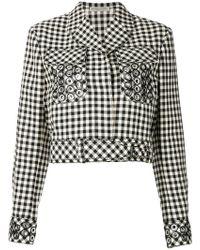 Bottega Veneta - Paille Nero Cotton Jacket - Lyst