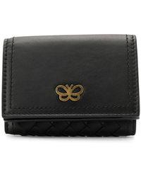 Bottega Veneta - Intrecciato Tri-fold Wallet - Lyst