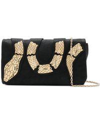 RED Valentino - Embellished Snake Shoulder Bag - Lyst