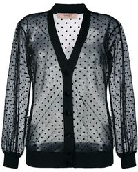 Twin Set - Sheer Dotted Cardigan - Lyst