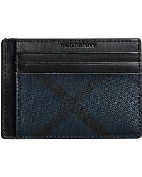 Burberry - London Check Money Clip Card Case - Lyst