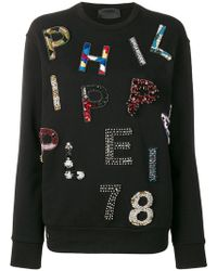 Philipp Plein - Beaded Logo Sweatshirt - Lyst