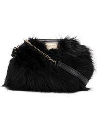 Emporio Armani - Small Faux Fur Bag - Lyst